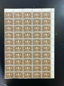 Canada #135 Mint Fine Never Hinged Sheet Of Fifty