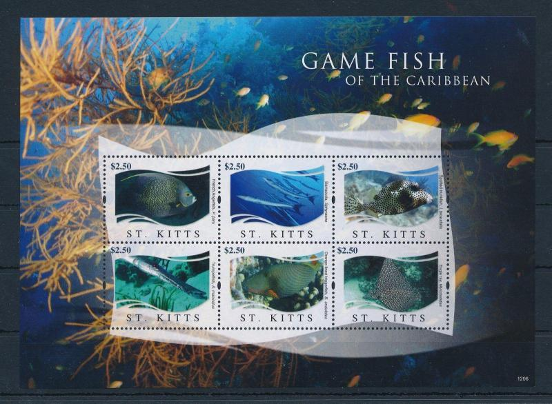 [36671] St. Kitts 2012 Marine life Fish MNH Sheet