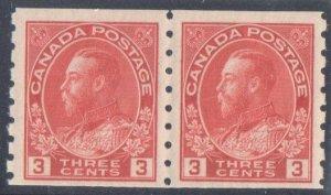 Canada Mint VF NH #130b Admiral coil Pair C$625.00
