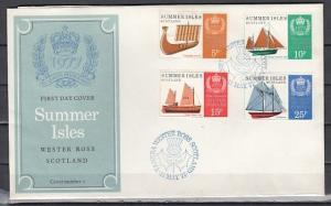 Summer Isles (Scotland). Queen`s Silver Jubilee with Ships. First day cover. *