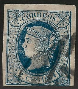 Spain #61 Used imperf Fine hr ....Chance to bid on a real Bargain!