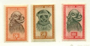 BELGIAN CONGO #254-6, Mint Never Hinged, Scott $22.50