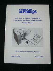 PHILLIPS AUCTION CATALOGUE 1980 GREAT BRITAIN AND COMMONWEALTH 'MRS NEWTON'