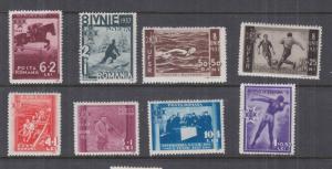 ROMANIA, 1937 7th. Anniversary Accession of King Carol II set of 8, lhm.