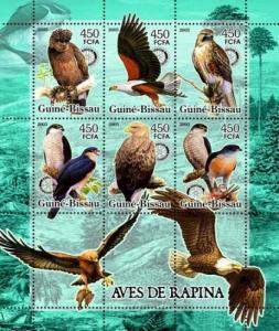 GUINEA BISSAU 2005 SHEET BIRDS OF PREY WILDLIFE