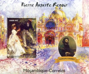 Mozambique 2004 RENOIR Paintings & Gustave Courbet s/s Perforated Mint (NH)
