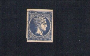 1875/86 Greece Greek / Greece, N° 50 20 Lepta Ultramarine Dark Signed Raybaudi