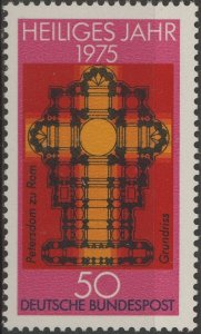 Stamp Germany Sc 1162 1975 Saint Peter Plan Holy Year Rome Vatican Catholic MNH