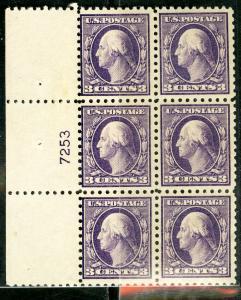 US Stamps # 426 3c Washington OG HINGED Scott Value $250.00
