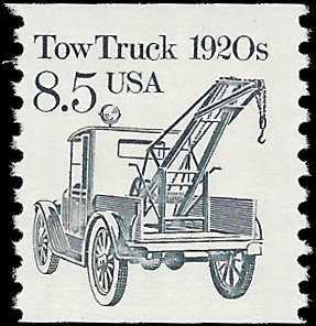 #2129 8.5c Tow Truck 1920s  Coil Single 1987 Mint NH
