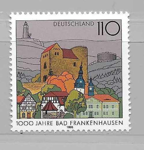 Germany 1992 1000th Bad Frankenhausen single MNH