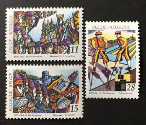 Belgium 1993 #1491-3, MNH, CV $3.20