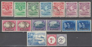 COLLECTION LOT # 3662 BASUTOLAND 16 STAMPS 1933+ CV+$11