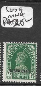INDIA NABHA (P3009B) KGVI 9P    SG79   MNH