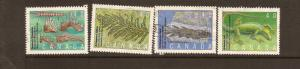 CANADIAN SET ON PREHISTORIC LIFE-2 USED STAMPS  LOT#222