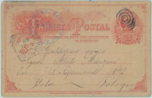 89588 - COSTA RICA - POSTAL HISTORY -  STATIONERY CARD to ITALY  1906