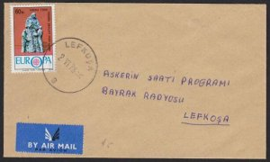 TURKISH CYPRUS 1978 cover LEFKOSA cds.......................................h314