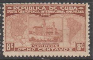 Cuba Scott #287 Havana Railway Station Stamp - Mint NH Single