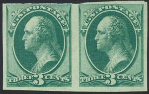 136Pa MINT NH PAIR W/PFC - EXT RARE Cat $1200 as hinged