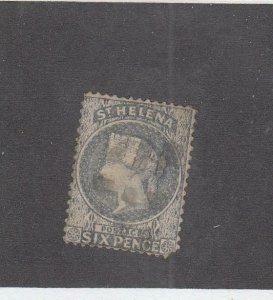 ST. HELENA (MK2685)  # 5 VF-USED  6p  1889 QUEEN VICTORIA /GRAY BLUE  CV $60