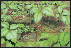 Jersey Mouse Rabbit Stoat Shrew Countryside Animals MS SG#1304-MS1310 CV£10+