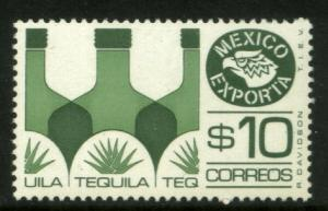 MEXICO Exporta 1125b $10P Tequila Fluor Paper 8 MNH