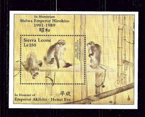 Sierra Leone 1062 MNH 1989 Monkeys S/S