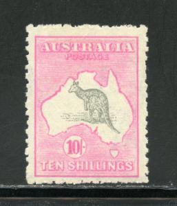 AUSTRALIA   KANGAROO SCOTT#55   SG#43a  MINT LIGHT  HINGED--SCOTT VALUE $1050.00