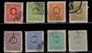 Montenegro Scott J1-J8 Used CTO postage due set