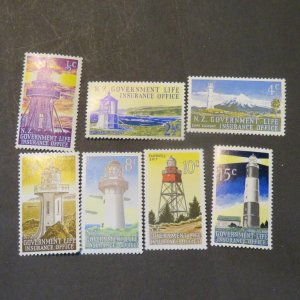 New Zealand Insurance OY 43-49 lighthouses Mint OG NH 1969-76 Cv. $3.953