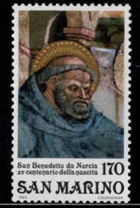San Marino Scott 978 MNH** Saint Benedict stamp