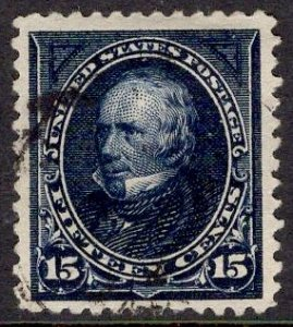 US Stamp #259 15c Clay USED SCV $65.00. Gorgeous Stamp.
