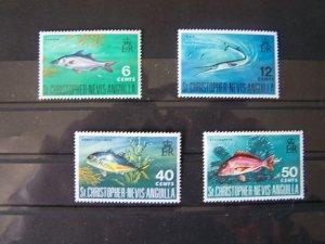 St. Kitts Nevis Anguilla MNH Set Of Fish