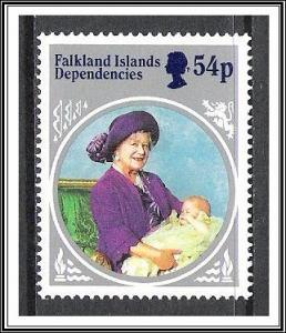 Falkland Islands Dependencies #1L95 Queen Mother MNH