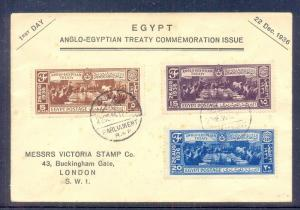 EGYPT  - 1936 Anglo-Egyptian Treaty FDC with Parliament  CDs