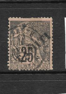 TAHITI  1892  25c  MOUCHON   FU     SG 15