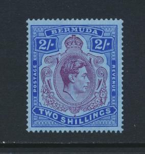 BERMUDA 1940, 2sh DP RED PURPLE +CERT VF MLH SG#116a CAT£350 (SEE BELOW