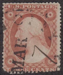 United States Scott #26A 3¢ Washington used single