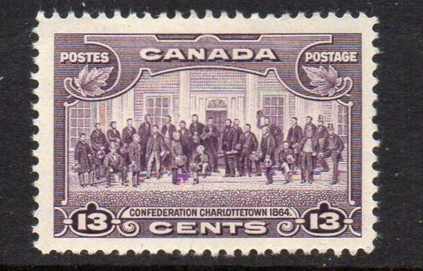 Canada Sc 224 1935 13c Charlottetown Conference stamp mint