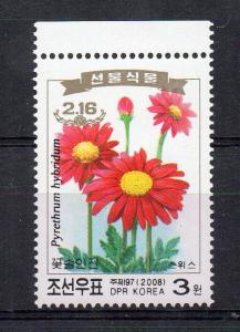 NORTH KOREA - 2008 - FLOWERS - PYRETHRUM HYBRIDUM -