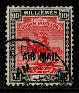 SUDAN SG48 1931 10m CARMINE & BLACK FINE USED