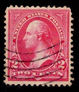 US Stamp #266 2c Carmine Washington USED SCV $5.50. Type II