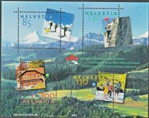 Switzerland 2005 Nature Conservation Miniature Sheet MUH