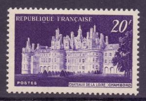 France SG1144 - YT 924, 1952 Chambord Chateau 20f MH*