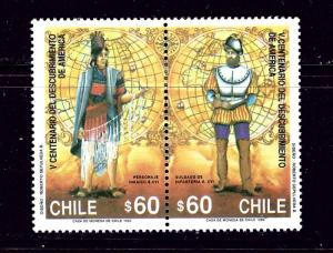 Chile 883a MH 1990 Discovery of America Anniv