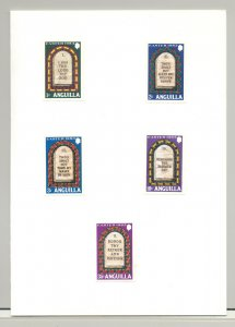 Anguilla #526-536 Easter, The Ten Commandments 10v & 1v S/S in 3 Folders