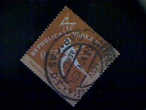 Venezuela, Scott #C809 used (o), 1962 air mail, National Games, Baseball