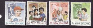 New Zealand-Sc#B145-8-unused NH semi-postal set-Self-Adhesive-Children's Health