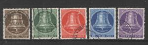 Germany 1953 Sc# 9N94-9N98 Freiheitsglocke Used NH VF+