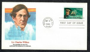2387 Charles Wilkes Explorer Unaddressed Fleetwood FDC